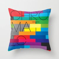 Chromatic Poster Throw Pillow