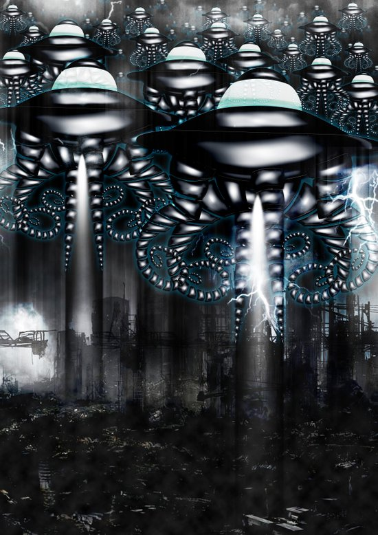 UFO invasion Art Print