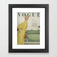 VOGUE 1950 Framed Art Print