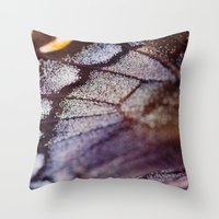 Butterfly Wing Macro Throw Pillow