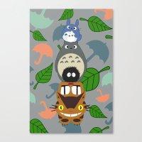 Troll Totem -  3' x 5' Canvas Print
