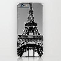 iPhone & iPod Case featuring Tower Eiffel En Noir by Olivia Nicholls-Bates