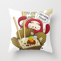 Daruma Time!!! Throw Pillow