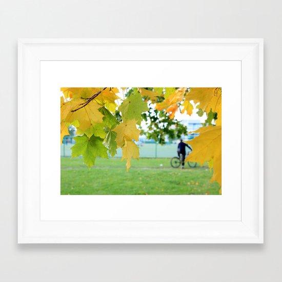 Fall letters Framed Art Print