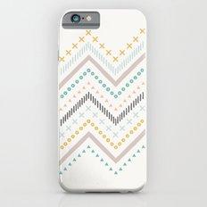 Mixed Zig Zag - in Marigold Slim Case iPhone 6s