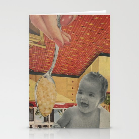 Baby Food Stationery Card