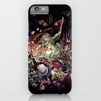iPhone Cases featuring Zombies in Wonderland by Alice X. Zhang