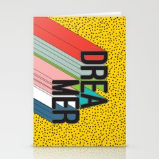 Dreamer Typography Color Poster Dream Imagine Stationery Cards