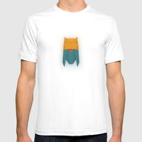 FIREWORKS Mens Fitted Tee White SMALL