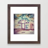 The roof view  Framed Art Print