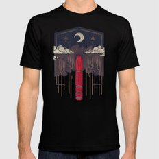 The Lost Obelisk SMALL Black Mens Fitted Tee