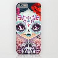 iPhone & iPod Case featuring Amelia Calavera - Sugar Skull by Sandra Vargas