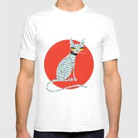 Wild House Cat Mens Fitted Tee White SMALL