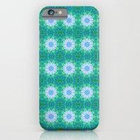 Turquoise Mosaic Flowers iPhone 6 Slim Case