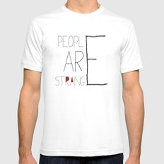 People Are Strange Mens Fitted Tee White SMALL