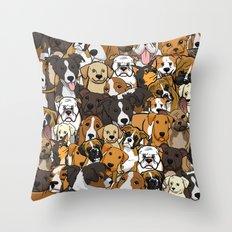 DOG BAG Throw Pillow