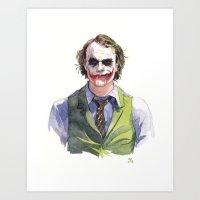 Heath Ledger (The Joker) Art Print