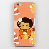 Kokeshi Momo iPhone & iPod Skin
