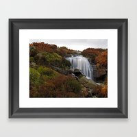 Hambleton Dyke Waterfall Framed Art Print