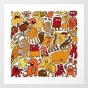 Creatures! Art Print
