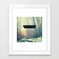 Wander Aimlessly  Framed Art Print