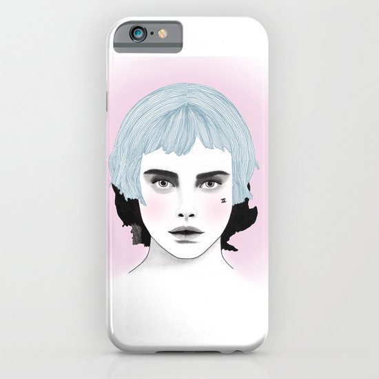 Fashion Illustration - Chanel Blue  iPhone & iPod Case