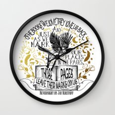 Nevernight - Books Love Us Wall Clock