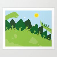 the forest on back Art Print