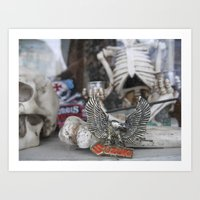 Skeleton Wares Art Print