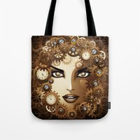 Steampunk Girl Portrait  Tote Bag