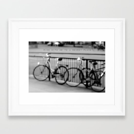 I want to ride with you to a secret place Framed Art Print