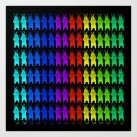 Rainbow King Bear Art Print
