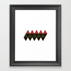 #201 Icosahedron net – Geometry Daily Framed Art Print