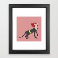 BlackCat Widow Framed Art Print