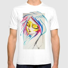 calm rebellion  SMALL White Mens Fitted Tee
