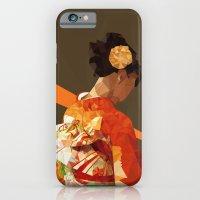 iPhone & iPod Case featuring Polygonal kimono girl by parisian samurai studio