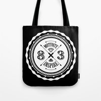 Motivate & Inspire (Whit… Tote Bag