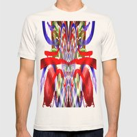 Color and lines in space Mens Fitted Tee Natural SMALL