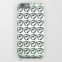 iPhone & iPod Case featuring Rows of Flowers, Mint Green by Noelle Tru's Mom