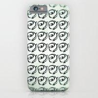 Rows Of Flowers, Mint Gr… iPhone 6 Slim Case