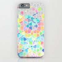 iPhone Cases featuring Rainbow Cubes & Diamonds by micklyn