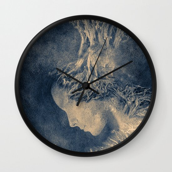 Dark portrait II  (colour option) Wall Clock