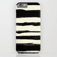 iPhone & iPod Case featuring Brush_Stroke_Stripe by Crystal ★ Walen