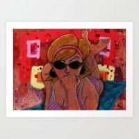 Pin-Up: Dotty Gal Art Print