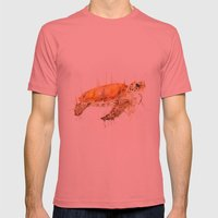 Sea Turtle  Mens Fitted Tee Pomegranate SMALL