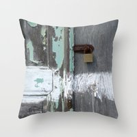 Hidden within Santorini, Greece Throw Pillow