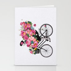 floral bicycle  Stationery Cards