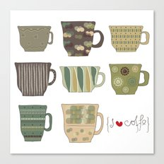 I {❤} Coffee Canvas Print