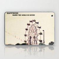 happiness makes the world go round Laptop & iPad Skin