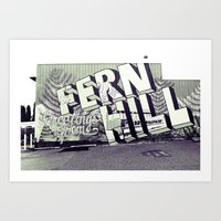 Art Print featuring Greetings from Fern Hill by Vorona Photography